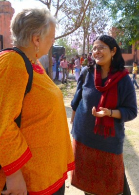 Helen and Keerti meet for the first time