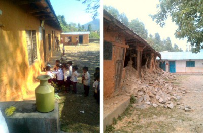 The school before and after